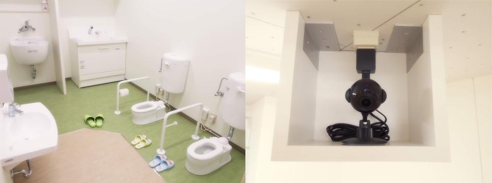 かしわぎの園内風景_トイレ・防犯カメラ
